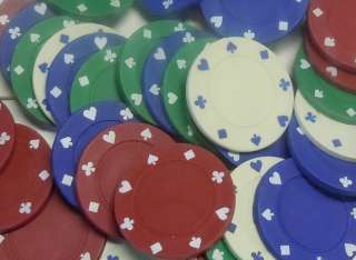 192 Poker Chips Red White Blue Green Professional Dual Toned