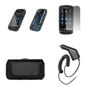 Samsung Reality U820 Premium Black Leather Carrying Case