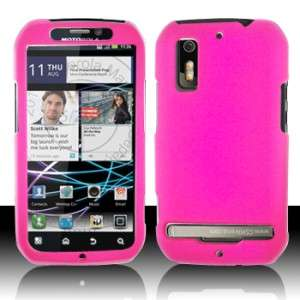 Hot Pink HARD Protector Case Phone Cover for Motorola Electrify