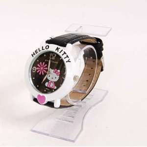 Hello Kitty Heart Wristwatch Wrist Watch Band Noir Toys