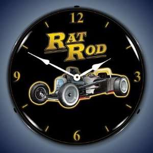 Rat Rod Lighted Wall Clock