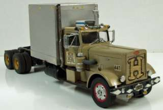 Peterbilt 351 Customized Truck, Vintage Built Plastic Model, 1/25