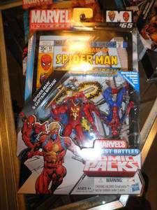 2011 Marvel Universe Comic 2 Pack Spider Man & Captain Britain #65 MOC