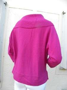 JONES NEW YORK COLLECTION HOT PINK SHADE HUGE COWL COLLAR CASHMERE