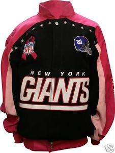 NEW YORK GIANTS NFL PINK BREAST CANCER AWARENESS JACKET