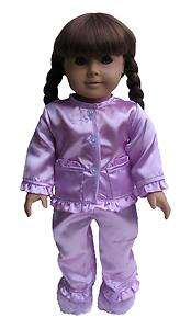 Doll Clothes Satin Pajamas Fit American Girl & 18 LJ