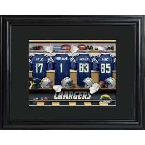 San Diego Chargers Locker Room Print with Frame