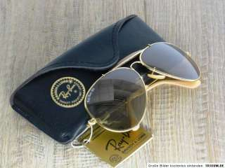 VINTAGE RAY BAN B&L USA 62mm THE GENERAL GOLD   MIRRORED GOLD LENSES