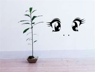 ANIME EYES FACE MANGA JAPANESE STYLE WALL VINYL STICKER DECAL ART