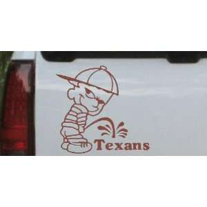 Brown 22in X 21.0in    Pee on Texans Car Window Wall Laptop Decal
