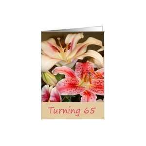 65th Birthday, Lilies Card: Toys & Games