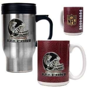 Atlanta Falcons NFL Travel Mug & Gameball Ceramic Mug Set