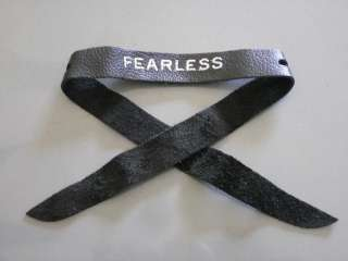 Taylor swift leather bracelet FEARLESS Wrist Band New