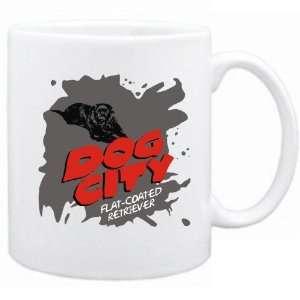 New  Dog City  Flat Coated Retriever  Mug Dog