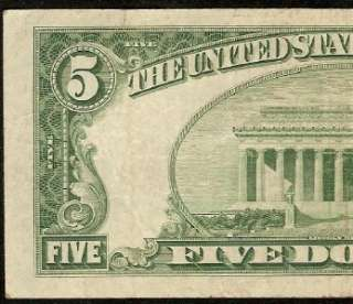 1950 C $5 DOLLAR BILL STAR RICHMOND FEDERAL RESERVE NOTE Fr 1964 E