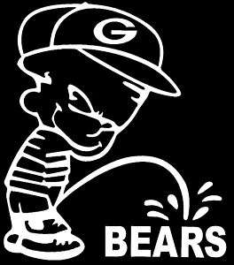 GREEN BAY PACKERS PEE ON CHICAGO BEARS VINYL DECAL