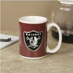 Oakland Raiders Pewter Logo Football Coffee Mug Sports & Outdoors