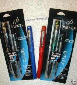 Parker REFLEX Roller Ball Pen (3 pens) MEDIUM POINT