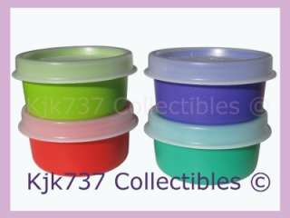 SMIDGETS TINY 1OZ GADGET CONTAINERS GREEN RED TURQ BLUE