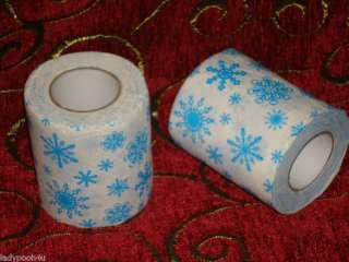 LOT 2 Christmas Snowflake Toilet Paper Rolls Decoration