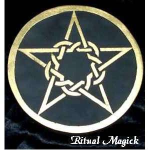 Trinity Pentacle Wiccan Altar Tile / Pentacle: Everything Else