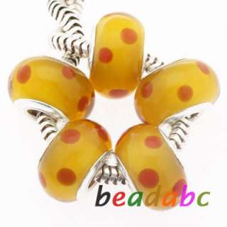 Glass beads Fit Charm Bracelets Loose Beads jewelry Lot