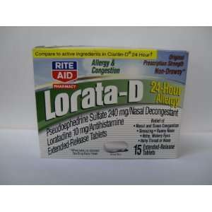 Rite Aid Lorata D 24 Allergy Extended Release Tablets