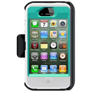 Apple iPhone 4S OtterBox Defender Case w/ Holster Belt Clip (White on