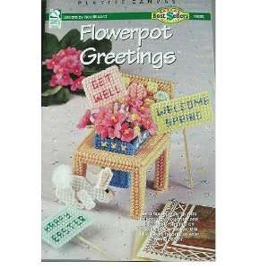 FLOWERPOT GREETINGS   PLASTIC CANVAS DESIGNS BY VICKI BLIZZARD FOR