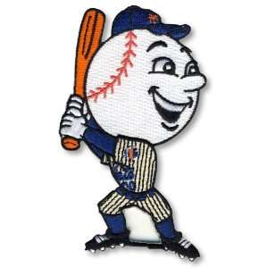 com 2 Patch Pack   New York Mets Mr. Met Mascot MLB Baseball Patches