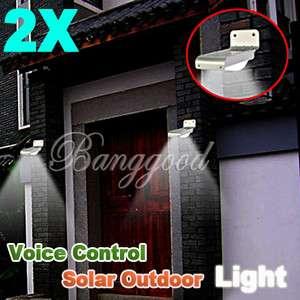 LED Solar Lamps Outdoor Garden Light Wall Lights Sound Sensor