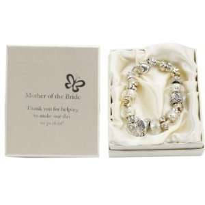 Silver/Gold Bead Charm Bracelet   Mother of the Bride