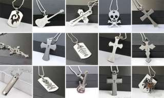 Mens Cross Bible Stainless Steel Necklace Pendant Gift