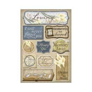 In Loving Memory Cardstock Stickers:: Arts, Crafts