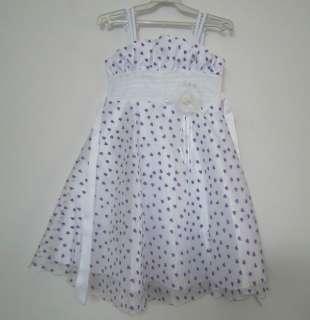 New Flower Girl Pageant Wedding Bridesmaid Princess Dress Lilac Set SZ