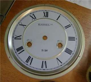 KASSEL wall clock 31 day movement spare / project. dial / gong