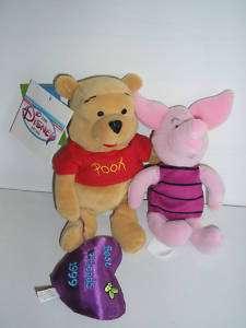 Disneys 1999 Pooh and Piglet Friendship Day Beanie Set
