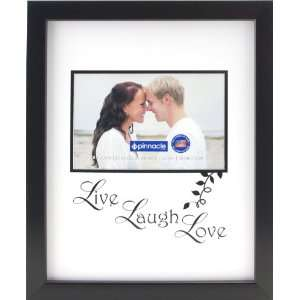 Pinnacle Frames Black Live Laugh Love Frame, 8 inch by 10