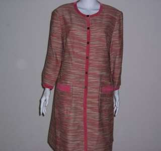 pink tweed style dress coat size 16 new the consignment boutique llc