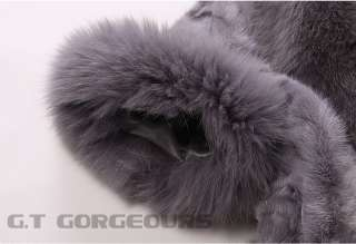 0402 women mink fur coat coats garment jacket with fox fur collar for