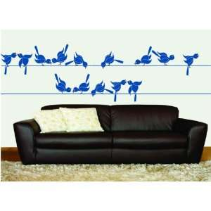 Removable Wall Decals   Birds on a Wire Sticker