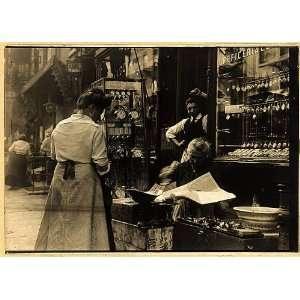 Italian shop on Mott Street,New York City,NYC,c1912,watch