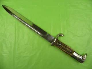 German Germany WW2 Bayonet Knife Dagger Stag