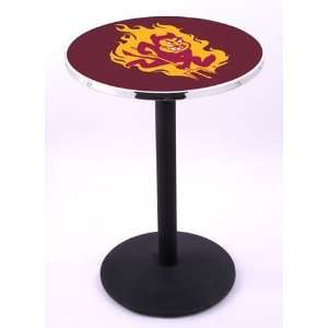 Arizona State University Pub Table With Chrome Edge