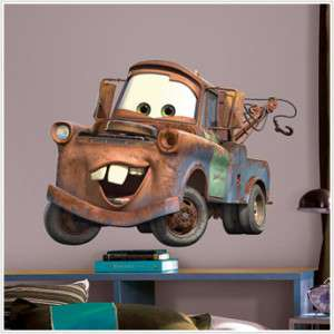 Pixar CARS BiG Wall Mural Stickers Room Decor GiAnT MATER Vinyl Decals