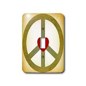 Patricia Sanders Creations   Vintage Green Peace Sign with
