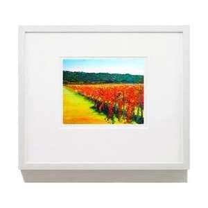 Fine Giclée Vineyard Print November Vines 20 X 24 Un Framed Print