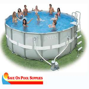 Round Ultra Frame Above Ground Swimming Pool Package 54469EB