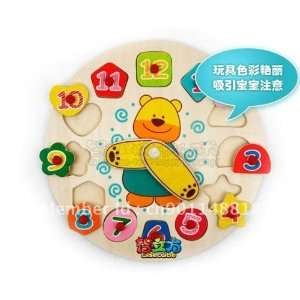 wisdom cubic early childhood toy bear clock digital shape