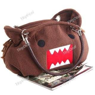 Brown Sturdy Plush Domo Kun Dual Strap Shoulder Bag NBG 45375